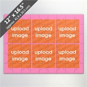 Design Own Pink Photo Collage Puzzle with 6 Pictures