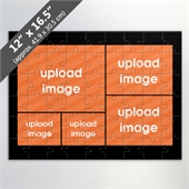 Personalized 5 Picture Photo Collage Puzzle