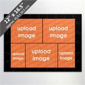 Custom 5 Picture Photo Collage Puzzle