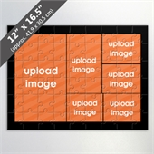 Custom 6-Picture Jigsaw Puzzle with Black Border