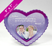 Purple Heart Puzzle with Heart-Shaped Photo
