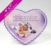 Purple Heart-Shaped Personalized Photo Puzzle