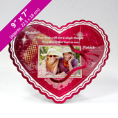 Pink Personalized Heart-Shaped Photo Puzzle