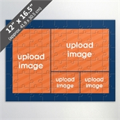 Custom 4 Picture Jigsaw Puzzle With Navy Border