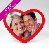 Heart-Shaped Personalized Puzzle with Large Photo