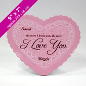 Custom Message Pink Heart-Shaped Puzzle