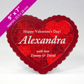 Personalized Heart-Shaped Puzzle with Custom Message