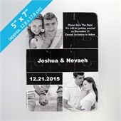 Personalized Wedding Photo Puzzle Invite Card