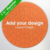 Custom 7.25 inch Round Puzzle (26 or 72 pcs)
