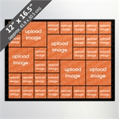 Design Own Black Photo Collage Puzzle with 33 Photos