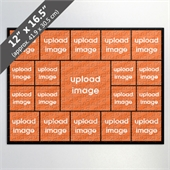 Design Own Black Photo Collage Puzzle with 19 Photos