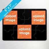 Personalized Full Color 3-Photo Puzzle Card
