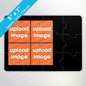 Create Own 4-Photo Puzzle Card with Black Border