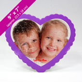 Personalized Heart-Shaped Puzzle with Standing Frame