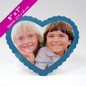 Custom Heart Shaped Photo Puzzle For Father's Day