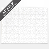 Blank 12x16.5 inch Jigsaw Puzzle (285 Pieces)
