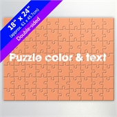 Design Two-Sided 70-Piece Custom Puzzle with Color and Text