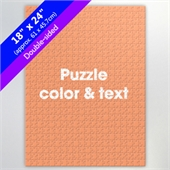 Two Sided Custom Puzzle 18X24 Inch For Puzzle Business