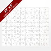 Blank 10x8 White Puzzle (100 Pieces)