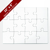 Blank 10x8 Traditional Puzzle (12 Pieces)