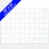 Blank 18x24 Jigsaw Puzzle (70 Pieces)