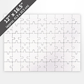 Blank 12X16.5 Puzzle (54 Pieces)