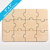 Plain Blank Invitation Puzzle 12pieces
