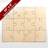 Blank 8X10 Wooden Puzzle 12 Pieces