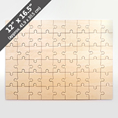 Blank 12x16.5 Wooden Jigsaw Puzzle 54pieces