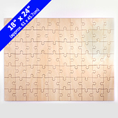 Blank 18x24 Traditional Cut Wooden Puzzle 70 pieces