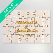 3.5 x 5 Inch Mini Wooden Engraved Puzzle