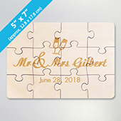 Small Wooden Engraved Jigsaw Puzzle Card