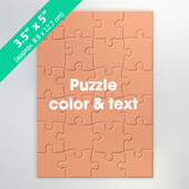 Custom Mini Jigsaw Puzzle Card 24 pieces