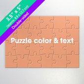 Double-Sided Custom Small Promotional Puzzle