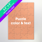 Double-Sided Personalized Small Jigsaw Puzzle