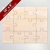 Blank Wooden Guest Book Puzzle 8X10 11 Piece