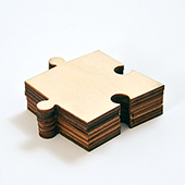 Blank Single Endless Wooden Puzzle Piece