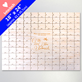 Customized Engraved Guest Heart Shaped Puzzle 99 Pieces