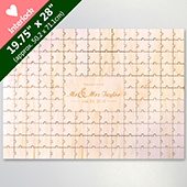 Custom Heart Shaped 151 Piece Wooden Guestbook Engraved Puzzle