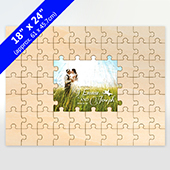 Personalized Painted Middle Wooden Puzzle 59 Pieces