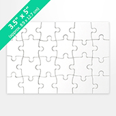 3.5x5 Blank Invitation Puzzle (24 Pieces)