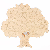 Custom Tree Shaped Guest Book Puzzle 70 Piece (UV Print)