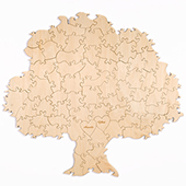 Custom Tree Shaped Guest Book Puzzle 90 Pieces (Laser Engraved)