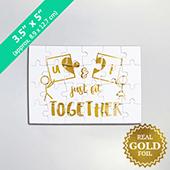 Custom Foil Puzzle 3.5 x 5 inch