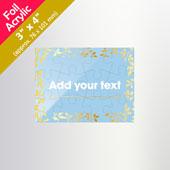 Small Transparent invitation puzzle 3 X 4 inch