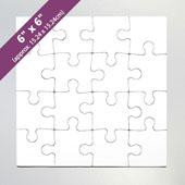 6X6 Blank Invitation Puzzle (16 Pieces)