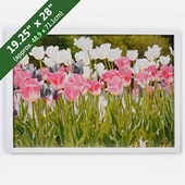 White Puzzle Frame For 19.25X28 Inches