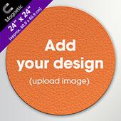 Custom Magnetic 500 Piece 24 inch Round Puzzle