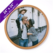 Wood Circle Puzzle Frame For 24 Inch