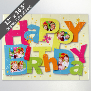 Personalized Happy Birthday Jigsaw Puzzle View
